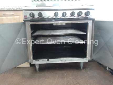 commercial oven cleaning after