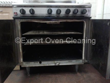 commercial oven cleaning before