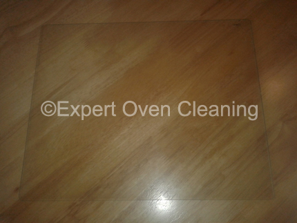 oven door glass cleaning after